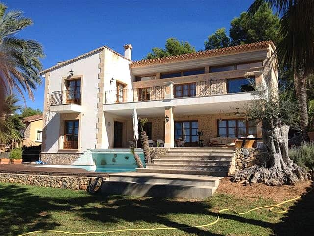Langzeitmiete Mallorca Südwestküste – Meerblick Villa mit Gästewohnung