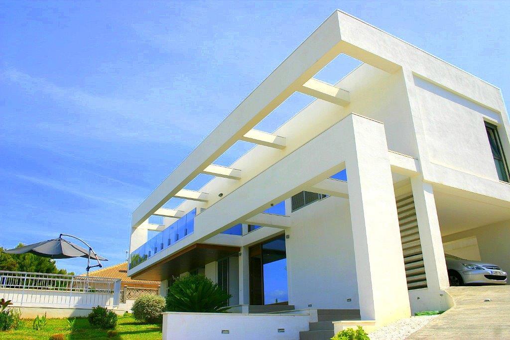 Villa in Cala Vinyas mit Panoramablick